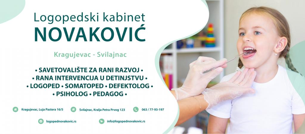Kontakt - Logoped Kragujevac i Svilajnac- Logopedski kabinet Novaković